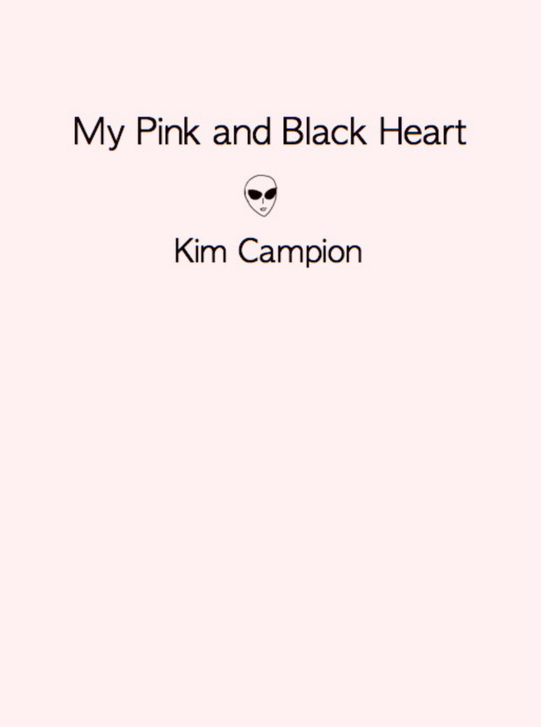 my pink and black heart by kim campion